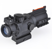 SEIGNEER NEW Sniper LT 4X32 Scope Illuminated Red/Green Reticle Scope With Laser Black