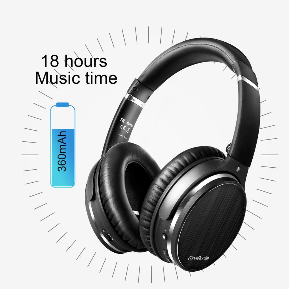 OneOdio Original Active Noise Cancelling Headphones Bluetooth Headphones Wireless ANC Headset With Mic Support AAC For Phone PC
