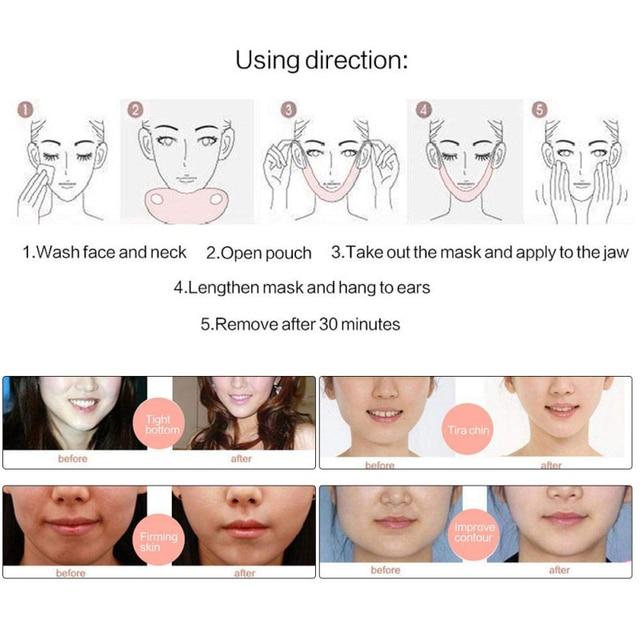 EFERO Miracle V Shape Lifting Face Mask Face Slim Chin Check Lift Peel-off Mask Facial Neck Masks  Face Slimming Skin Care TSLM1 2