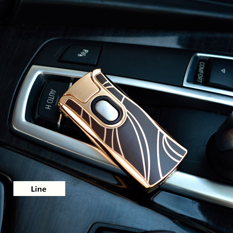 Image 5 - 2018 New USB Electric Dual Arc Metal Lighter Rechargeable Plasma Lighter Cigarette Touch Sensing Pulse Cross Thunder Ligthers-in Cigarette Accessories from Home & Garden
