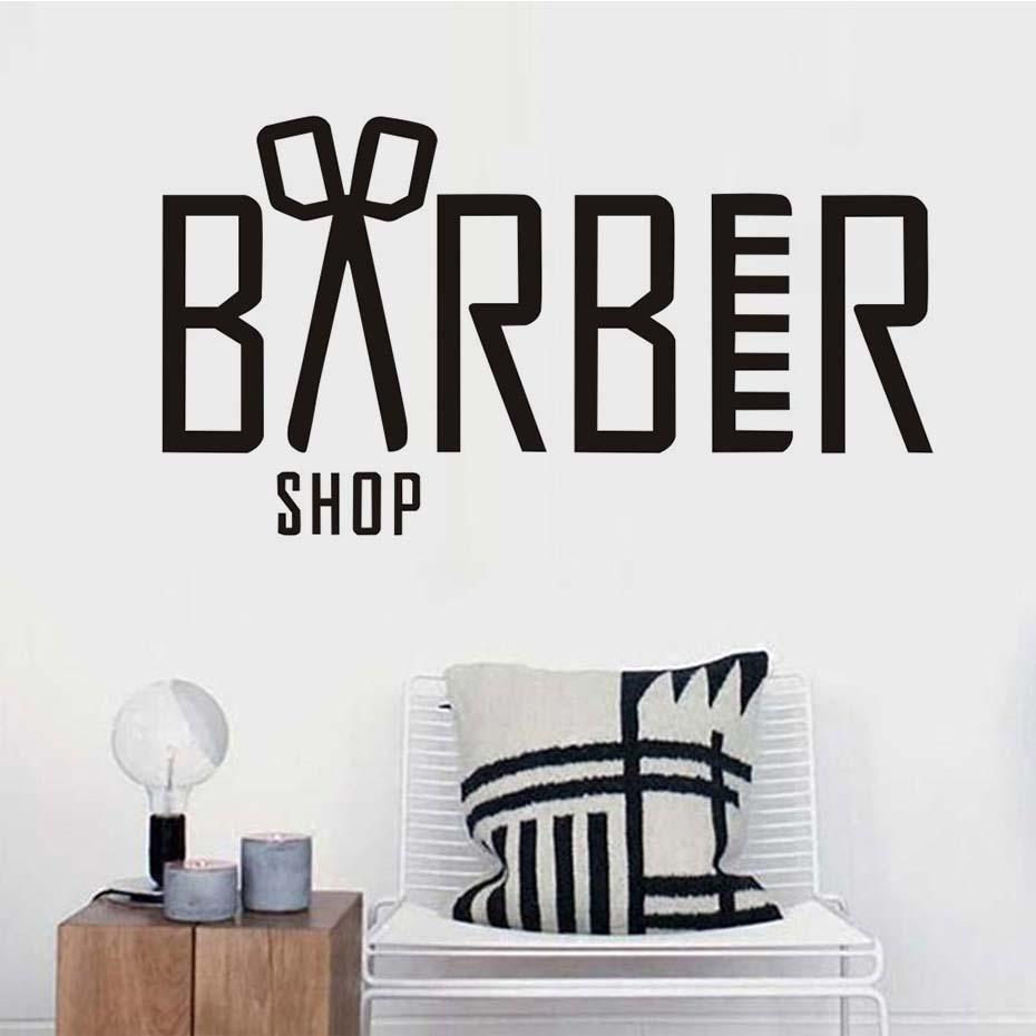 extrable pegatinas saln de peluquera peluquera tijeras de tatuajes de pared de vinilo pegatinas de pared