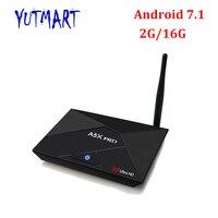 10 шт. [A5X PRO] Full HD медиаплеер 5 г Wi-Fi 4 К H.265 2 ГБ DDR3 16 ГБ eMMC 4 ядра Smart Android 7,1 RK3328 ТВ коробка A5X Pro