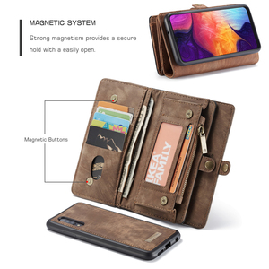 Image 2 - עבור Funda Samsung Galaxy A50 ארנק מקרה להסרה 2 ב 1 אמיתי עור מגנטי Flip כיסוי מקרה עבור סמסונג A50 a40 A30 A20