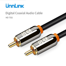 Unnlink Coaxial Cable 75ohm Stereo Digital RCA Audio Cable 1m 2m 1.5m 3m 5m 8m 10m Male to Male Hifi For Subwoofer TV AV Speaker