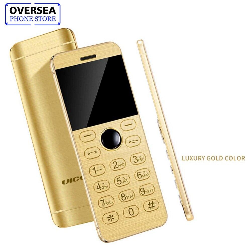 ULCOOL V16 Telefon Super Mini Ultradünne Karte Metall Körper Bluetooth 2,0 Dialer MP3 1,54 Zoll Karte Telefon Telefon Handy