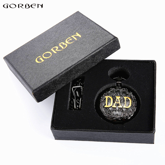2016 Father's Day Gifts Vintage THE GREATEST Dad & Grandpa Pocket Watches With F