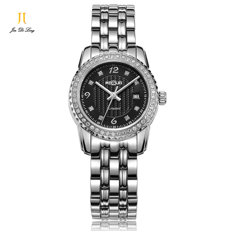 Brand Fashion Luxury Watch Women Business&Casual Automatic Watch Diamond Calendar Waterproof Ladies Wristwatch Classical Relogio