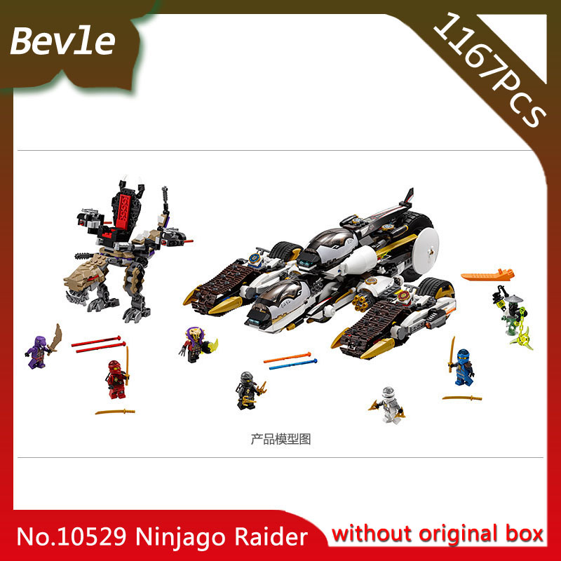 Bevle Store Bela 10529 1135pcs Ninja Series Super stealth raid Model Building Blocks Bricks For Children Toys LEPIN 70595 Gift 5w rgb crystal magic ball effect stage light voice control party disco club