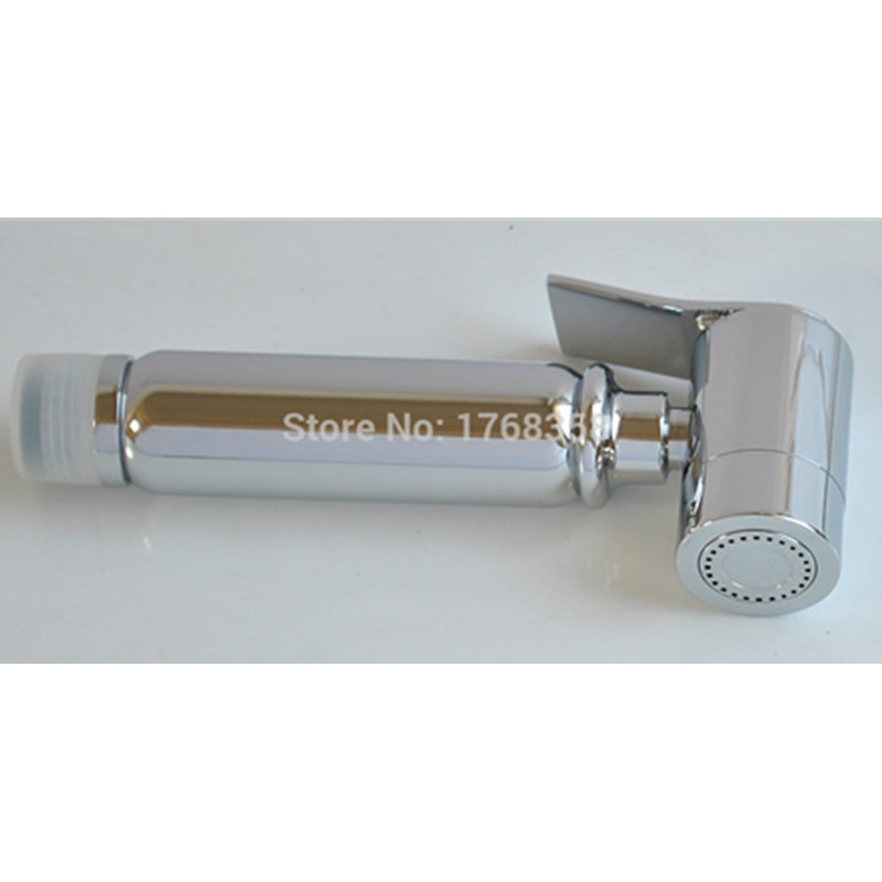 Brass Chrome Toilet Bidet Sprayer Shattaf Douche set 7 8 quot Brass t adapter with 1 5m hose 2007 in Bidets from Home Improvement