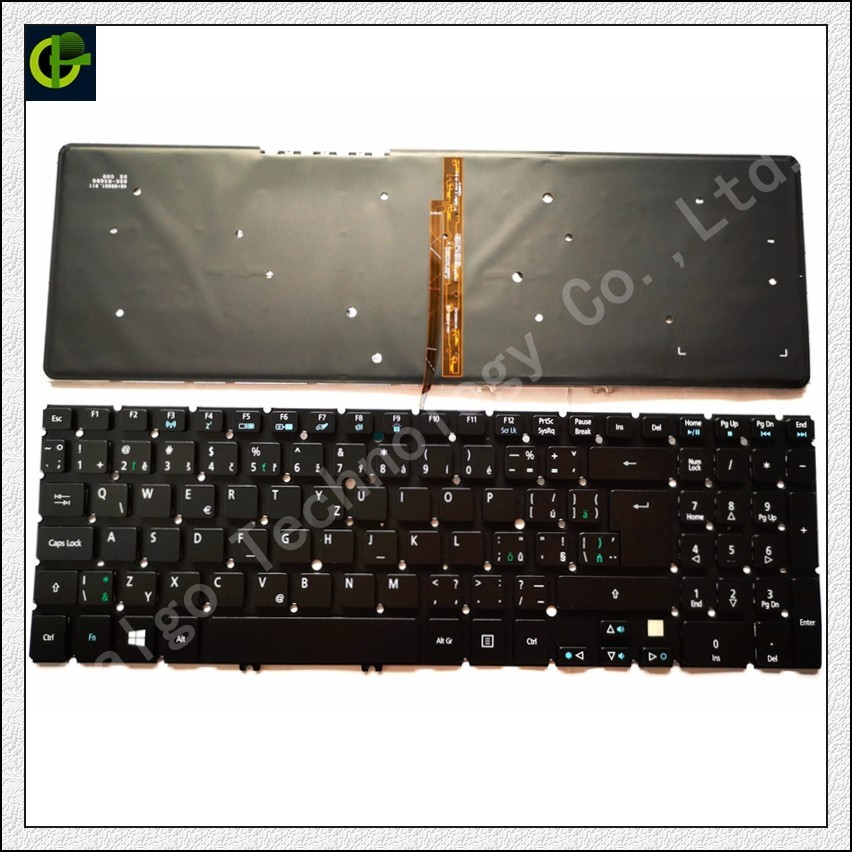 Czech Keyboard for Acer Aspire V5 V5-531 V5-531G V5-551 V5-551G V5-571 V5-571G V5-571P V5-571PG CZ fit Slovakia SK with backlit diatone v5 0 power hub