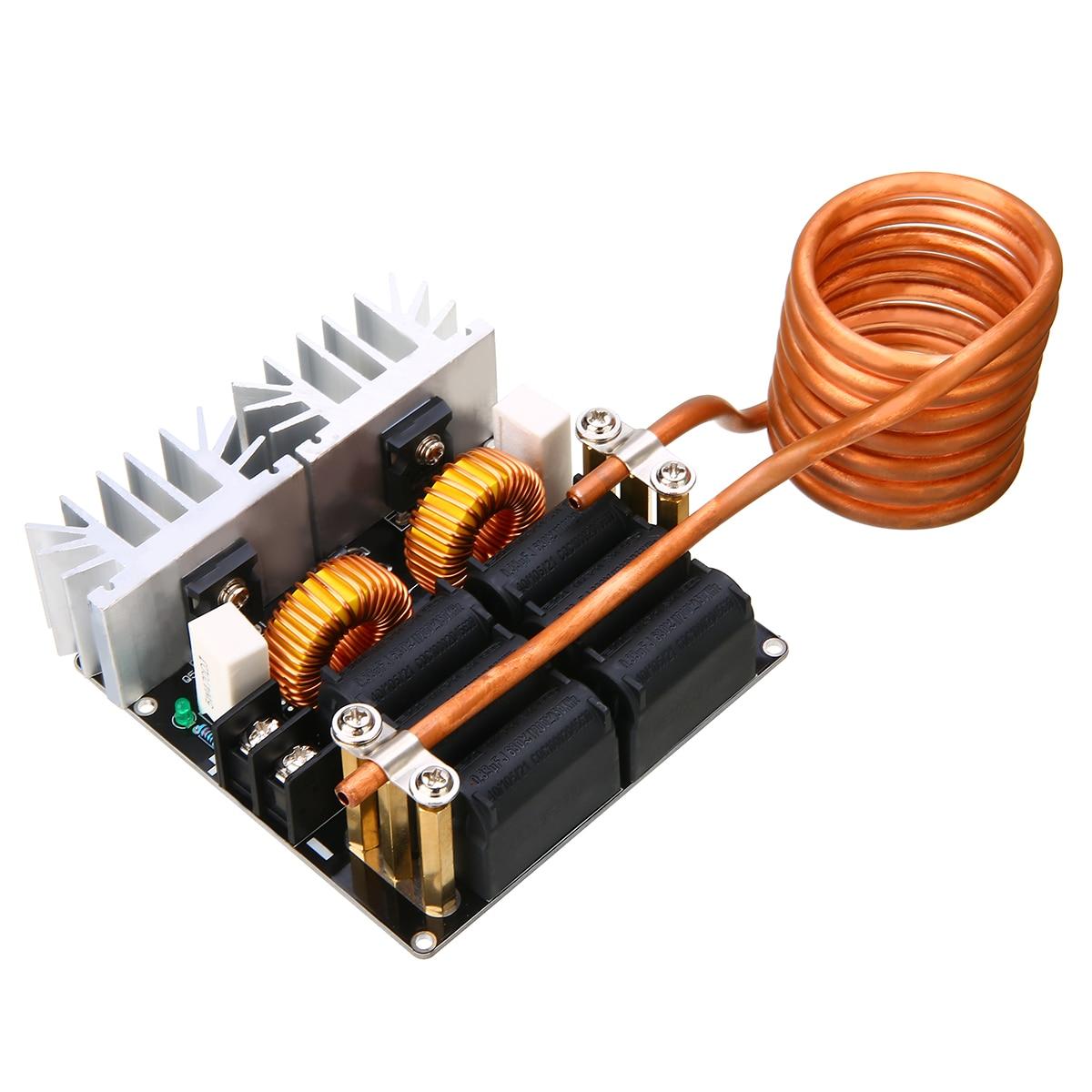 1pc 1000W ZVS Module de chauffage basse tension chauffage par Induction Module de bricolage avec bobine Tesla pour outil de Test
