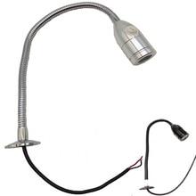 24V 12V  Led Map Light Flexible Neck deebow flexible neck 24 led 2 mode blue