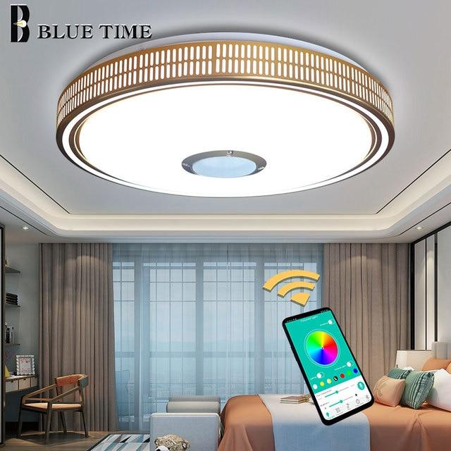 New Design APP Controlling Modern LED Ceiling Lights For Living Room Dining Room Bedroom Home Golden Finished LED Ceiling Lamps