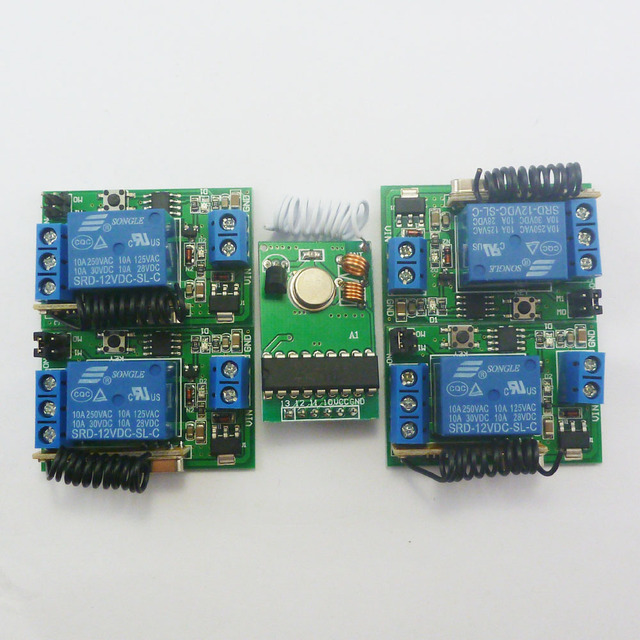 12V 433MHz Transmitter Control Delay Relay Receiver Kits for Arduino