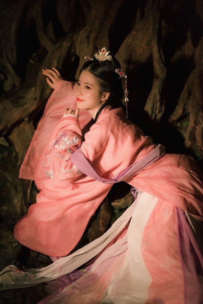 2019 été traditionnel chinois hanfu femme danse vêtements blanc classique robe folklorique danse costumes pour enfants filles enfants chi