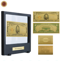 WR 1928 Year 5 Dollar 24k Gold Banknote Home Decoration Items Gold Foil Fake Money Gift