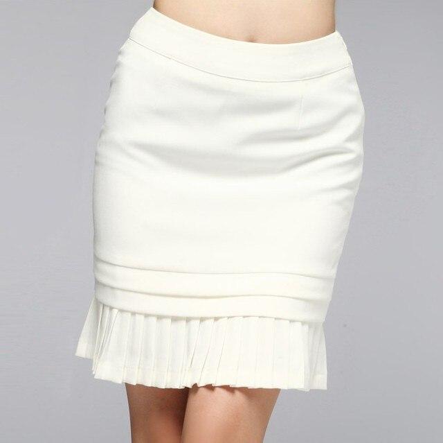 e3095e0db S XXL Las Mujeres Estilo Faldas Lápiz Falda hasta la Rodilla Formal de la  Manera Delgada Elástico Mini Falda Corta de La Trompeta/Sirena blanco en ...
