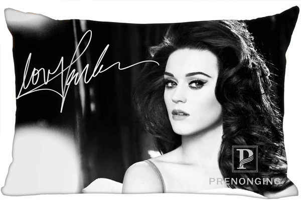 Best Custom Pillow Case C Katy Perry@02 Rectangle Pillowcases zipper 35x45cm (One Side Print) @180117-19