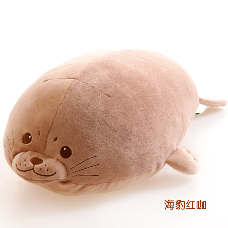 ФОТО Super soft creative new feather cotton pillow sleeping pillow seals and piggy doll plush toys