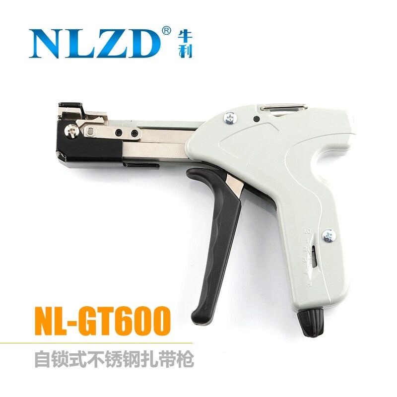 Zip tie automática tensão cut off arma especial alicate ferramenta de fixação para braçadeira de cabo de aço inoxidável com uma largura de 4.6-8mm