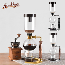 Syphon Pot Heat Resistant Glass Siphon Coffee Maker Siphon Vacuum Pot Kitchen Tools 3cups Glass Type Coffee Machine 2016 real cafeteras nespresso steam pod royal belgium balancing siphon gold coffee maker machine 450 ml vacuum syphon f 191