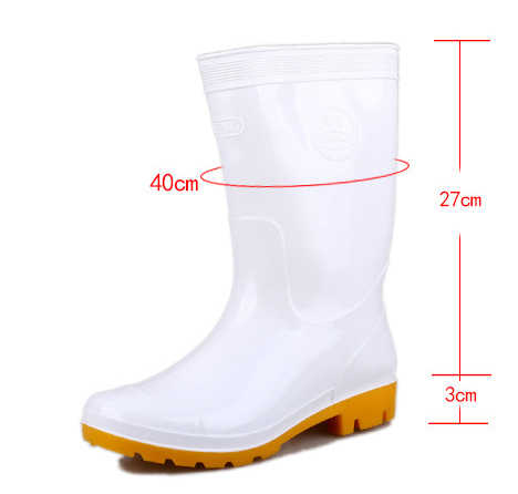 4382ac37173 Aleafalling Kitchen Rain Boots Work Men White PU Unisex Waterproof  Synthetic All-season Cooker's Mature Boots Men Shoes m88