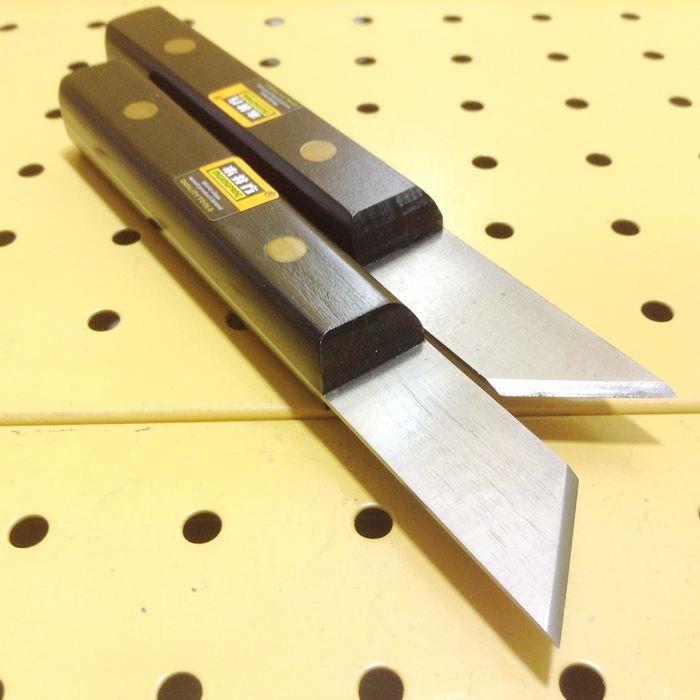 2 대의 PC Luthier 도구 KO1006 왼손잡이 용 및 오른손 용 목재 작업용 칼