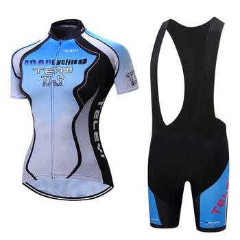 2019 ciclismo definir mulheres Verão camisas MTB estrada bicicleta jersey bib curto Esporte roupas de bicicleta triathlon roupas Pro kit terno vestido