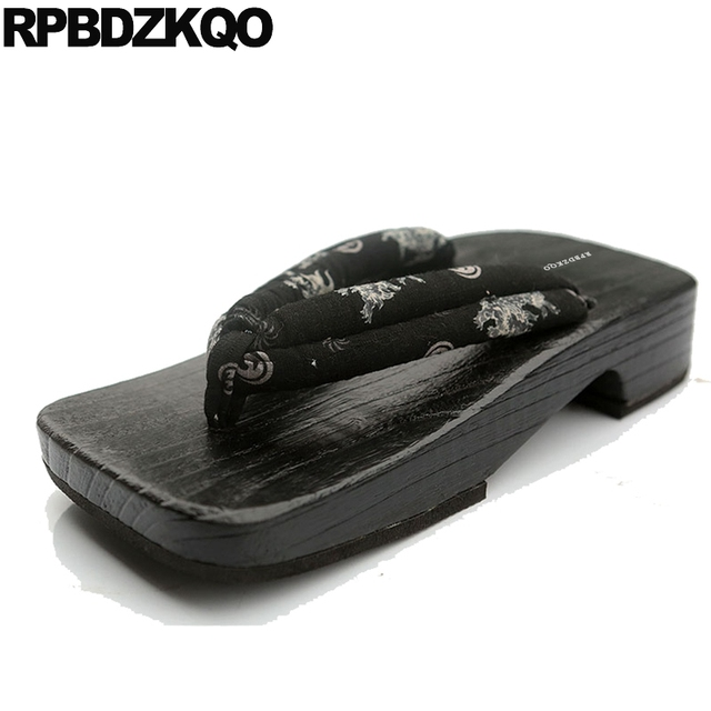 9e41b7904157ab Platform Summer Slippers Outdoor Sandals Japanese Clogs Breathable Men Shoes  Slides Water Waterproof Flip Flop Geta 2018 Nice