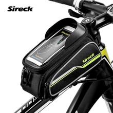 "Sireck MTB Bike Bag 6 ""pantalla táctil Marco De La Bicicleta Bolsa de Sillín Ciclismo Top Tube Bag Caja Del Teléfono Accesorios de la Bici 2017 Borsa Bici"