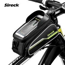 Sireck 6 «сенсорный Телефон Дело Mountain Road Bike Bag MTB Велоспорт Велосипед Передней Трубы Рамы Сумка Седло Мешок Аксессуары 4 Цветов