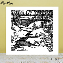 ZhuoAng Forest Water Clear Stamps for DIY Scrapbooking/Photo Album Decorative Card Making Supplies