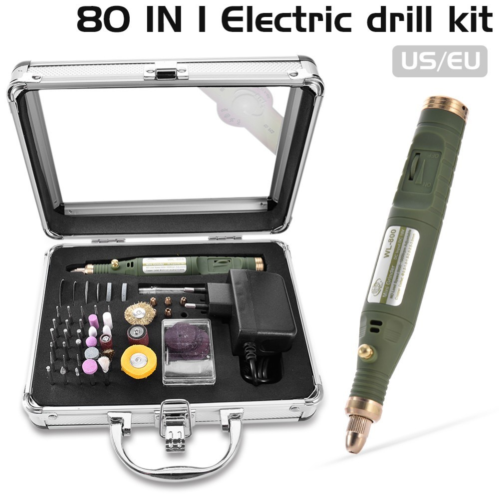 80-IN-1 Mini Electric Rotary Drill Grinder With Grinding Accessories Set Multi-Function Engraving Machine Power Tool Kit mini multi function table saw bench drill grinding machine with 100w high power cutting machine tool accessories