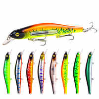 1 PC. Fishing Lure Minnow 12.5 cm / 17.7 g outerwear bait 3D plastic eyes Wobblers tackle Pesca Far-casting Magnet System