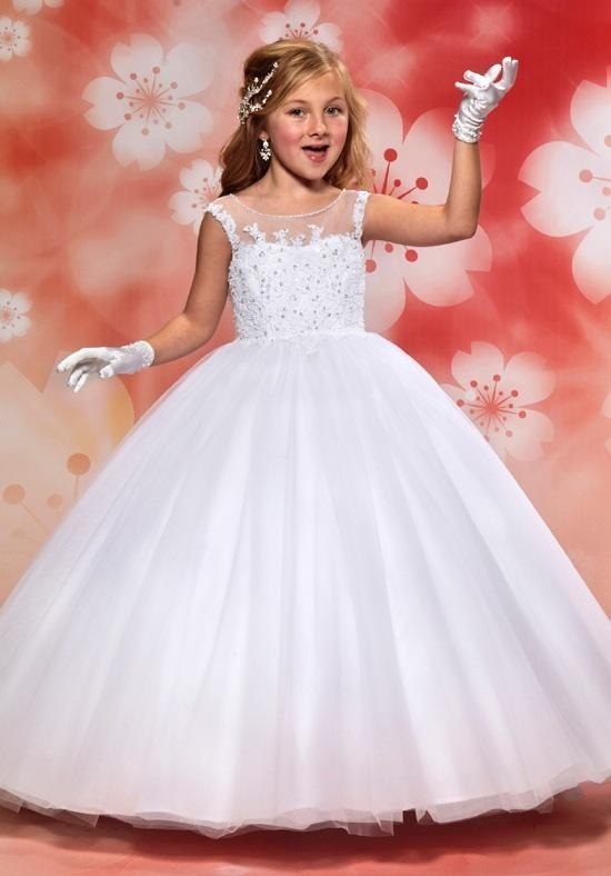 wedding dresses flower girl aliexpress buy lovely gown scoop 9311