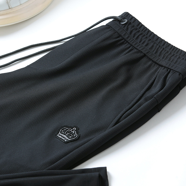 Free shipping Summer Men's  fashion casual Pants , Comfortable  Men's thin elastic trousers,black color ,size 29-40 37