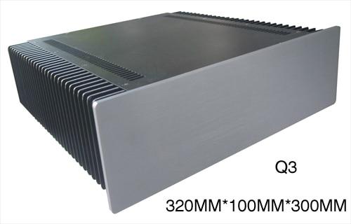 AMP case 320*100*300mm Q3 aluminum panel amplifier chassis / Preamp / Class A amplifier case / AMP Enclosure / case / DIY box bz3008 all aluminum amplifier chassis preamp integrated amplifier amp enclosure case diy box 280 70 211mm