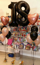 1set 40 Number 18 Helium Balloons Rose Gold Black Latex Perfect Year Old