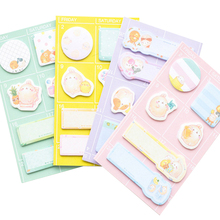 30packs/lot cartoon memo pad sticky schedule plan notebook bookmark adhesive stickers student stationery wholesale cute cartoon rabbit carrot wooden bookmark book page with tassel student stationery exquisite gift