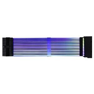 Image 3 - 24Pin + 8Pin ネオンライン 24 ピン電源 RGB PSU ライン PC マザーボード電源延長アダプタケーブル E ATX/ ATX/マイクロ ATX マザーボード