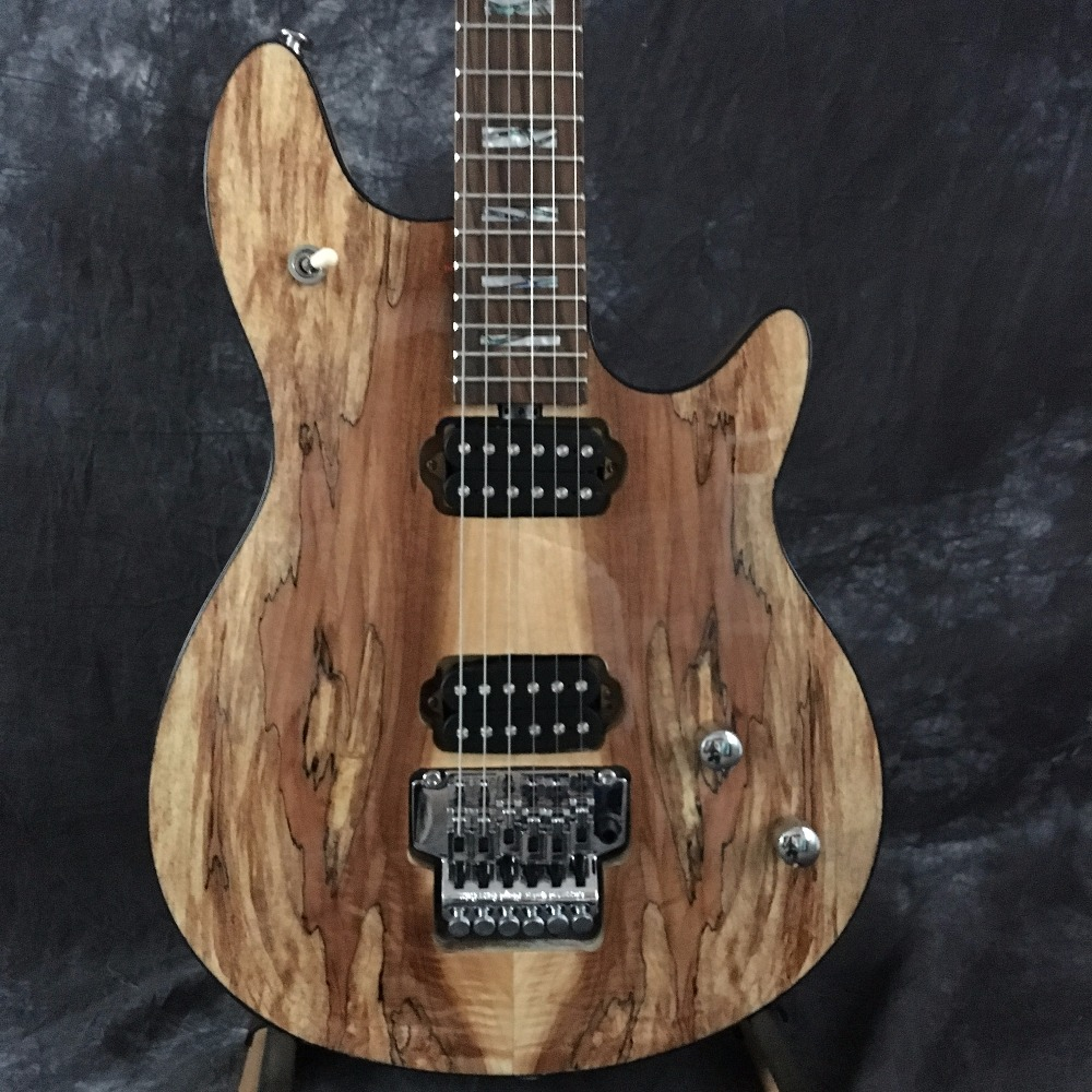 Nature Decoration Wooden Electric Guitar China OEM Chrome Floyd Rose Vibrato. Free Shipping