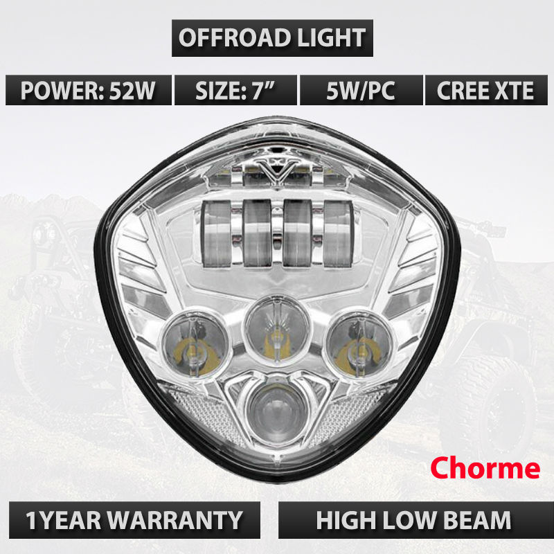 New Motos accessories Motorcycle Led Headlamp Victory Motorcycle LED Headlight lamps Black Chrome For Victory cross country icoco sensitive touch dimmer desk lamp eye care reading led fashion night light folding portable table lamp for office study new