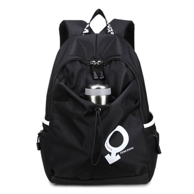 134b4e84de Fengdong black waterproof fabric kids school bag boy laptop backpack men  travel bags bagpack women shoulder