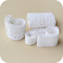 5yards 4-6cm Width White Cotton  Lace Trims Bridal Wedding Trim Craft Edging