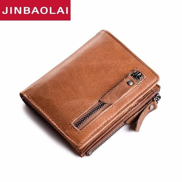 Slim RFID Wallet Short Genuine Leather Mens Wallet Clutch Male Vintage Hasp Coin  Purse Men Card Holder Clamp For Money Wallets 38f9ce546d2d