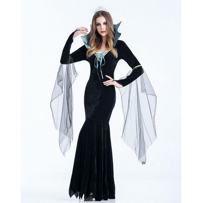 Sexy women Witch Costume Deluxe Adult Womens Magic Moment Costume Adult Witch Halloween Fancy Dress