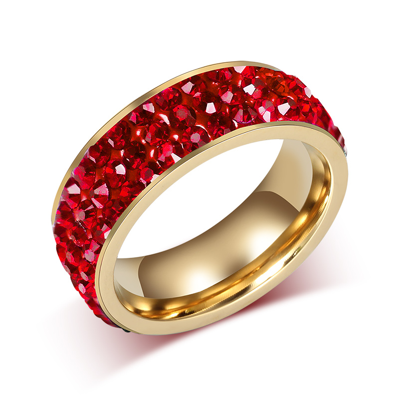with wedding ziconia womens and black rings cubic ring engagement red