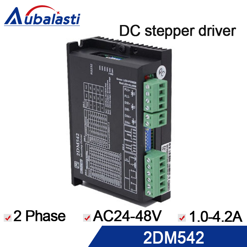 2phase step motor driver 2DM542 input voltage is DC 24-48V current 1-4.2A match with 57 86 serial step motor use for cnc original leadshine 2 phase driver dm542 input voltage dc18 48v current 1 0 4 2a match with the motor 57 60 86