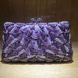 Bolso de mano de cristal púrpura verde para mujer, bolso para fiesta de boda, clutch para fiesta de cóctel, bolsos de noche, bolso de mano rojo