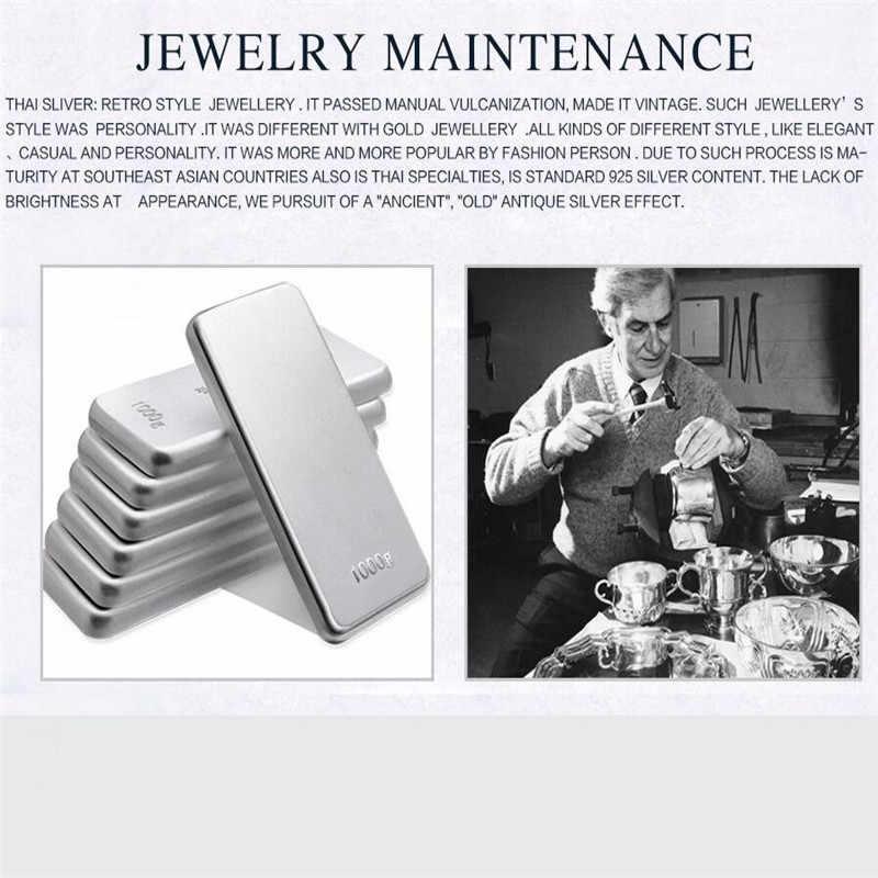 Thời trang 925 Sterling Silver Sao của David Necklace Pendant Đối Với Phụ Nữ Men Chain Món Quà Màu Đen Bạc Hollow Cổ Điển Vòng Cổ